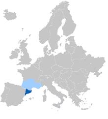 Carte géographique Occitan