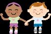 Enfants se donnant la main