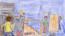 Dessin d'enfants de travaux