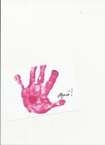 Peinture main enfant